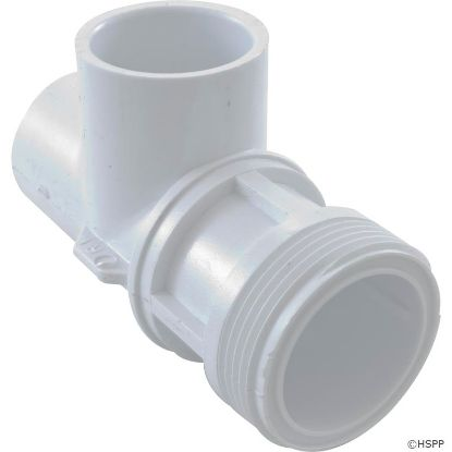 "Body, Waterway Single Port On/Off Valve, 1-13/16""mpt, White"